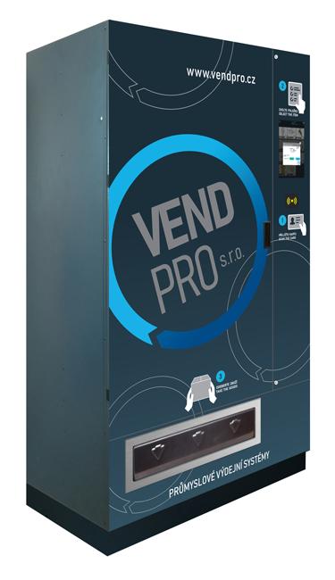 Průmyslový výdejní automat VendPRO700 - výdej OOPP, brusiva lepidel, droného materiálu